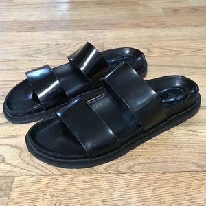 ZARA Trafaluc Black Sandals 39